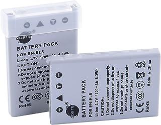 DSTE 2x EN-EL5 Li-ion Batería para Nikon Coolpix 3700 4200 5200 5900 7900 P3 P4 P80 P90 P100 P500 P510 P520 P530 P5000 P5100 P6000 S10