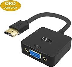 ICZI Adaptador HDMI a VGA con Conectores Chapados en Oro, Convertidor HDMI a VGA 1080P para Conectar PC a HDTV Monitor Proyector Pantalla Gigante, Negro