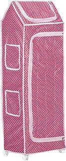 NHR Multipurpose Premium Plastic Baby almirah, Kids Wardrobe, Cloth Organizer, Folding almirah, Toy Box (5 Shelf, Pink)