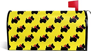 PBZNAN Scottish Terrier Dog Cute Mailbox Covers Magnetic Mail Post Cover Mailbox Wraps 21x18 in