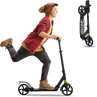 REDLIRO Kids/Adults Scooter With Rear Break, Adjustable Handlebars, Big Wheels, Shock Absorption - Folding Sport Kick Scoo...