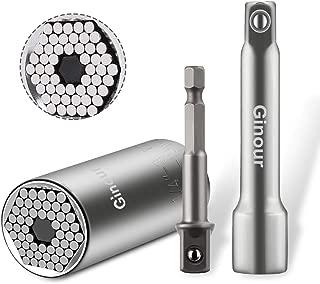Ginour Universal Socket, 3Pcs Multi-function Universal Socket Wrench 1/4