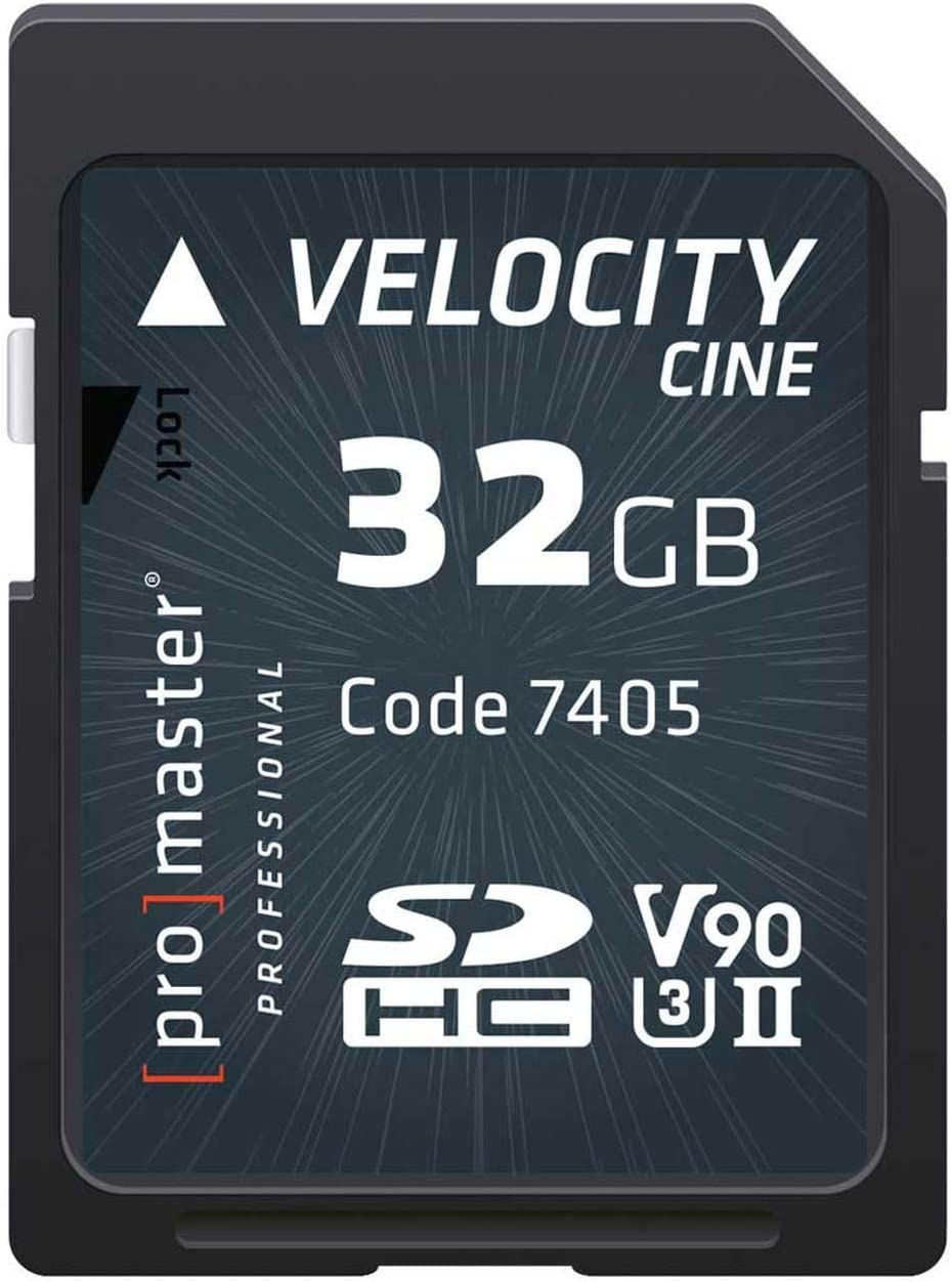 Promaster SDHC 32GB Velocity CINE V90 UHS-II U3 Memory Card (7405)