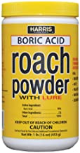 HARRIS Boric Acid Roach Killer Powder with Lure, 16oz