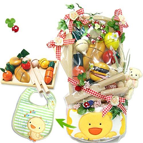 豪華おままごと遊び おむつケーキ『森のピクニック』エドインターさくっと切れる知育玩具[ママゴトいっぱいセット] M
