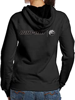 Women's Can Am Spyder Cool Cute Long Sleeve Hoodie Sweatshirt Hip Hop Pullover Black