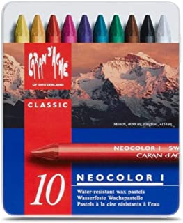 Caran Dache Metal tin with 10 assorted colours