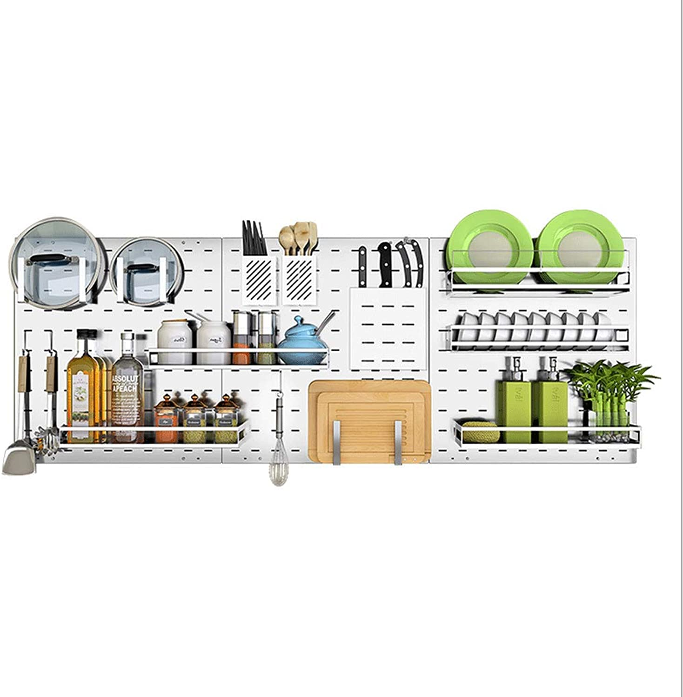 CCF 304 Stainless Steel Shelf Draining Dish Rack Kitchen Wall Mount Wall Kitchenware Storage Shelf CCFSF (Size   42.3  14.5  9.7CM)