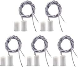 BNYZWOT RC-33 NC Recessed Wired Security Window Door Contact Sensor Alarm Magnetic Reed Switch White 5 Pair