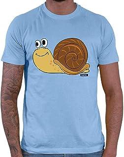 Hariz - Camiseta para hombre, diseño de caracol con animales dulces y jungla, incluye tarjeta de regalo
