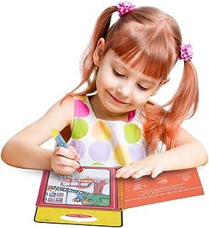 YOUR MOON 儿童水画册 场景临摹涂鸦本画本 反复使用 intimate系列(数字)(具体介绍看视频)