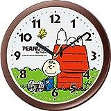 SNOOPY (スヌーピー) 掛け時計 キャラクター アナログ M712A 茶 リズム(RHYTHM) 4KG712MA06