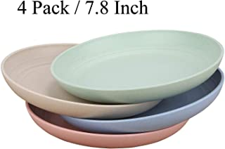 Unbreakable Wheat Straw Plates - Reusable 7.8