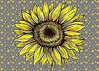 HD10x7ftひまわりの花の背景小さな壊れた花の写真の背景テーマパーティーの壁紙写真ブース小道具MBLLFH6