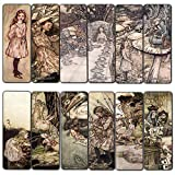 Alice in Wonderland Fairy Tales Arthur Rackham Bookmarks Cards (60-Pack) – Book Club Gift Collection for Men Women Teens Kids – Page Clipper Classroom Incentive Party Favors Teachers Rewards