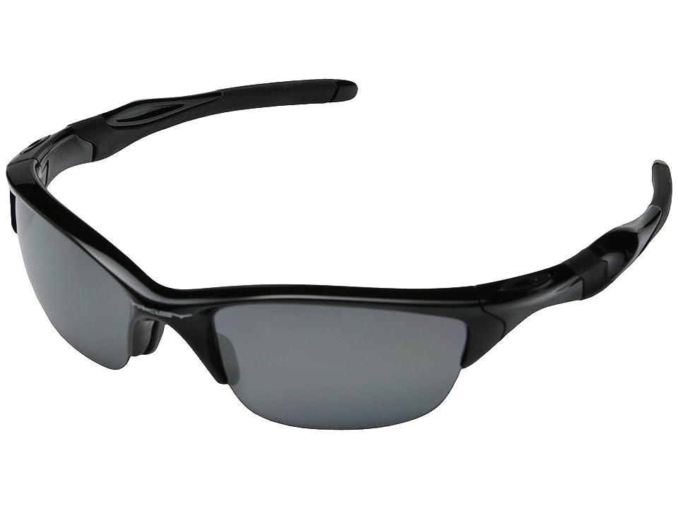 Oakley Half Jacket 2.0 Polarized (Polished Black w/Black Iridium Polarized) Sport Sunglasses