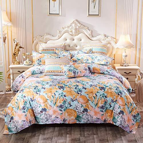 CYGJFour-piece bedding set with stylish zippersYellow flowers1.5m four-piece set