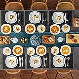 MALACASA, Serie Elisa, 48 TLG. Porzellan Tafelservice Kombiservice Geschirrset, 12 Dessertteller, 12 Suppenteller, 12 Flachteller und 12 MüsliSchäle für 12 Personen - 8