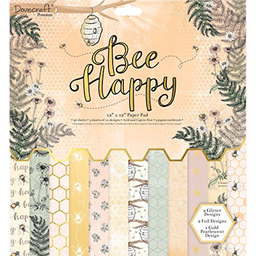 Dovecraft Bee Happy 12 x 12 Papel para FSC, Multicolor