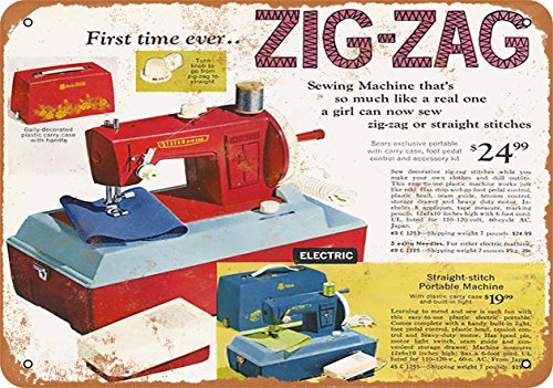 Wall-Color 9 x 12 Metal Sign - 1969 Zig-Zag Sewing Machine - Vintage Look