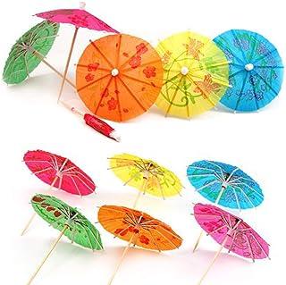 Cocktailparaplyer, 50-pack dryckesdekoration parasoll för bar cocktail dekorationstillbehör dricka frukt mat vin fest månf...