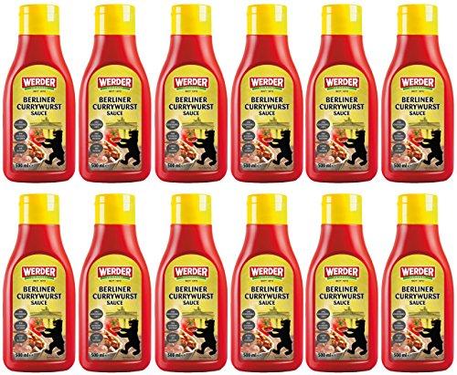 12 x Berliner Currywurst Sauce 500 ml