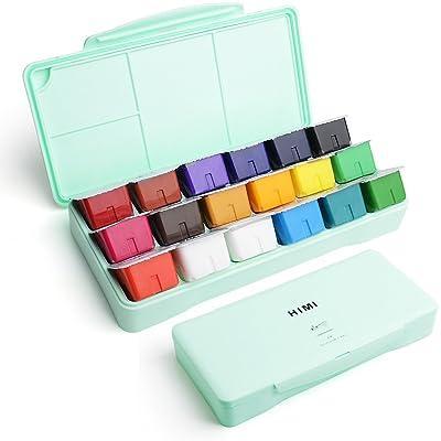 Miya Gouache Paint Set, 18 Colors x 30ml Unique...