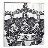kThrones Cortina de baño,Impermeable,Antiguo Royal Crown Kingdom Emperador Gobernante Zar Símbolo Monarquía Autoridad Icono,Cortina de Ducha de con Ganchos 150cmx180cm