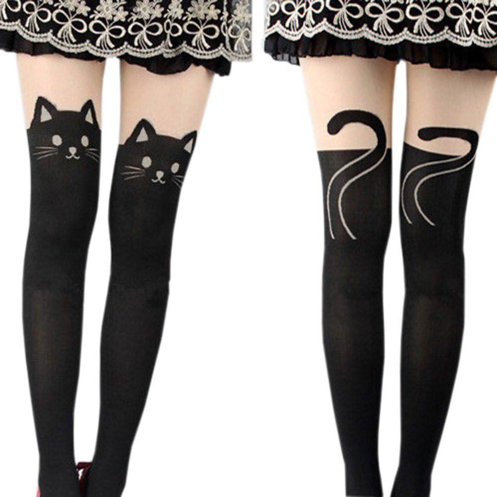 Sanwood Women's Fun Pattern Printed Tattoo Pantyhose Stockings Tattoo Legging Tights