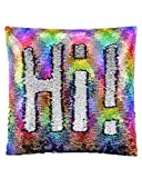 SIRENE Mermaid Pillow Reversible Sequin Pillow That Changes Color -...