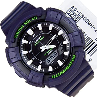 Casio Tough Solar, Sporty Analog-Digital Watch [AD-S800WH-2A]