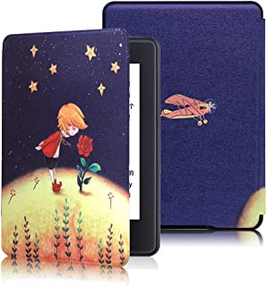 CASZONE Flip Case for Kindle Paperwhite 2018 10th Generation with Hand Strap Holder, Ultra Slim Thin PC Leather Shockproof...