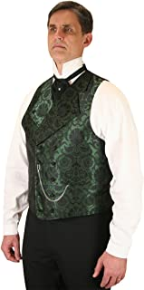 Historical Emporium Men's Penworth Double Breasted Satin Dress Vest