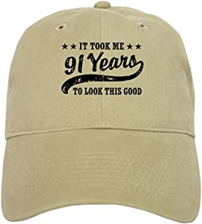 fe0a4349c3ad92 CafePress - Funny 91st Birthday Cap - Baseball Cap with Adjustable Closure,  Unique Printed Baseball