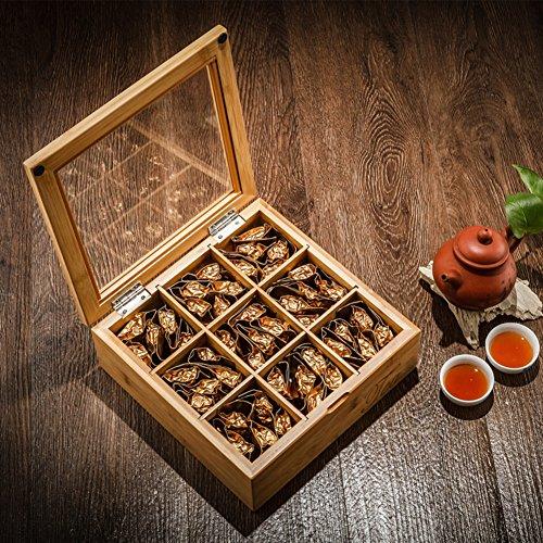 WXTY KKDQ Caja de Almacenamiento de té/Caja de Madera de café/Caja-A