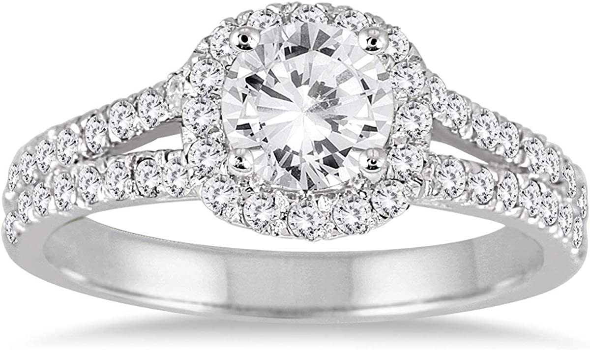 AGS Certified 1 4 Carat TW Whit 14K Virginia Beach Mall Ring Engagement Max 64% OFF Diamond in