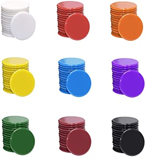 Shapenty 3/4Inch / 19mm Small Plastic Learning Counters Disks Bingo Chip Counting Discs Markers for MathPractice and Poke...