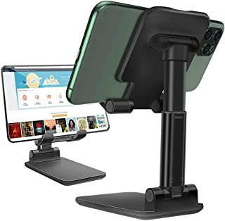 Cell Phone Stand,JR INTL Angle Height Adjustable Cell Phones Stand for Desk, Fully Foldable Phone Holder Stamd,Cradle,Dock...