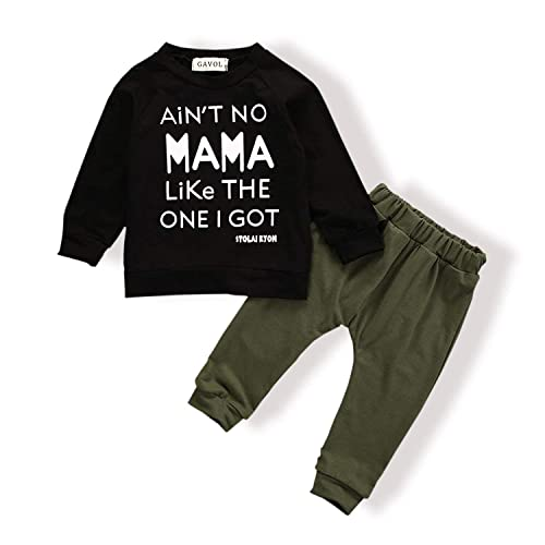 b71300d5846c Baby Boy Clothes Funny Letter Printed Tops Leggings Pants Outfits Set for  Toddler Boys