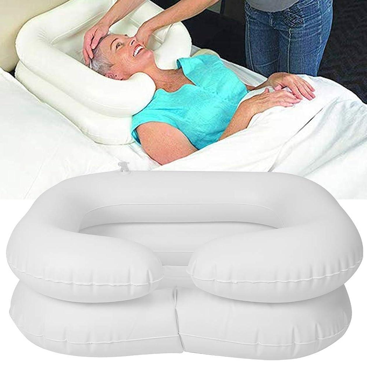年齢原始的な有名シャンプー洗面器、身体障害者用ベッドサイドシャワーシステム、高齢者寝たきり、ベッドに閉じ込められた人々のためのオーバーヘッドシャワー、ウォーターバッグ