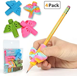 Pencil Grips, Firesara Original Handwriting Correction Finger Exclusive Butterfly Wings Design Assorted Grip Trainer for Righties Kids or Children or Preschoolers or Adults (4PCS)