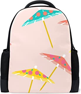 COOSUN Colorful Umbrellas Pattern School Backpack Casual Daypack Travel Laptop Backpack