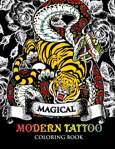 Modren Tattoo Coloring Book: Modern and