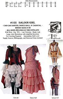Western Saloon Dancer or Can Can Girl Pattern