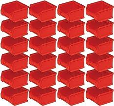 Profi LB 6 - Caja de almacenaje (24 unidades, 100 x 100 x 60 mm, 0,3 L), color rojo