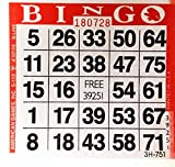 1 on Red Bingo Paper Cards - 500 cards per pack