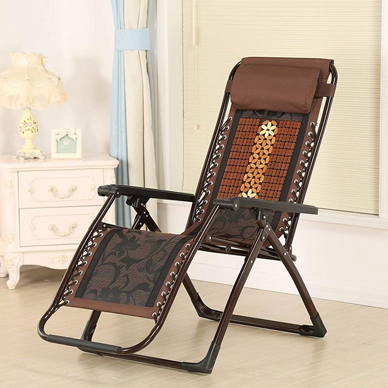 AG Dormitory Bed Chair, Student Lazy Chair, College Dormitory Artifact Sun Loungers Folding Recliner Square Tube Mahjong Piece Bamboo Seat Recliner Chair Lunch Break Chair Office Leisure Chair Napp