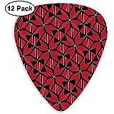 Bandera de Trinidad y Tobago Artascope Flower Picks de guitarra 12 Pack-3 Diferentes tamaños Incluye Thin, Medium & Heavy