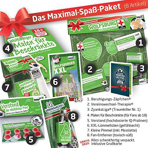 MÄNNER-Geschenk: Das Maximal-Spaßpaket für Wolfsburg-Fans | Witzige Geschenkidee mit Schadenfreude & Spaßgarantie by Ligakakao.de | Perfekt für Geburtstag, Freund, Ehe-Mann, Party & Weihnacht