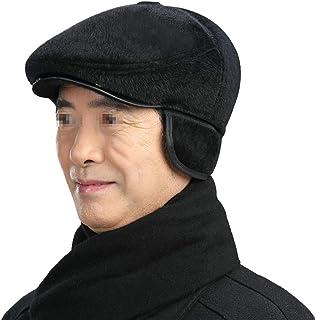 Sombrero Caliente para Hombre Gorros De Boina De Invierno Sombreros De Punto con Orejeras Forro Polar De Lana Al Aire Libre